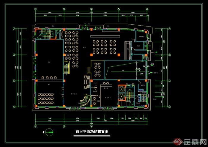 格酒店建筑设计cad平面图