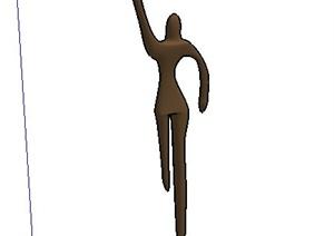 简约人物雕塑SU(草图大师)模型