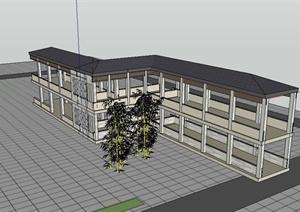 新古典风格廊道走廊设计SU(草图大师)模型