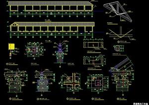 中式景观长廊设计施工图