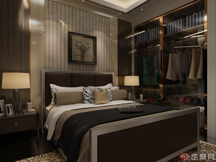 次卧,卧室,卧室床