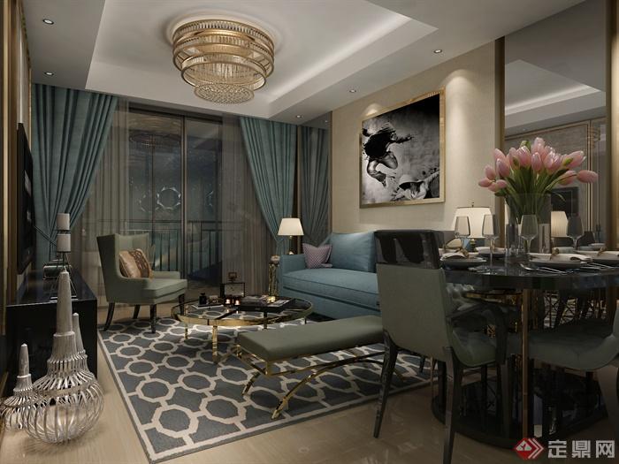 客厅,客厅沙发,沙发茶几,沙发,客厅装饰