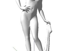 女性人物雕塑SU(草图大师)模型