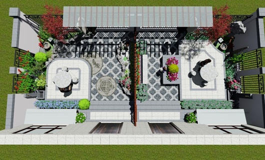 中式庭院花园