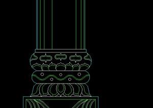 多款中式柱子柱脚设计cad图