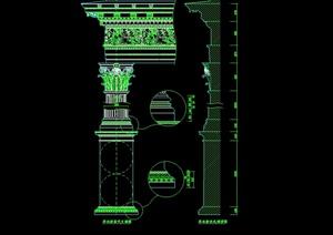 某欧式风格详细柱子设计cad方案图