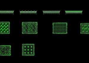 多种不同的地毯设计cad方案