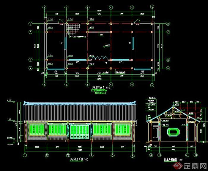 古典中式四合院民宅建筑施工图