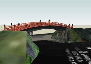 某日式风格景观桥设计SU(草图大师)模型