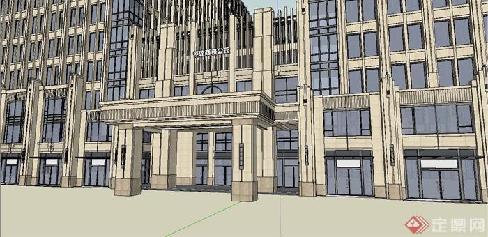 某新古典风格高层国际酒店建筑设计su模型[原创]