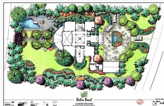 某现代风格别墅庭院设计pdf方案[原创]图片