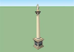 欧式风格详细景观柱子设计SU(草图大师)模型