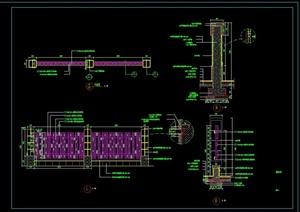 某现代围墙设计CAD施工图