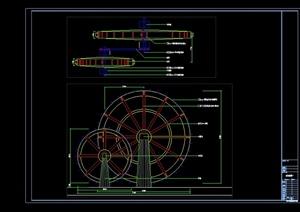 某现代风格水车设计cad详图