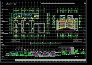 某现代风格大学生学术研习中心建筑设计CAD施工图