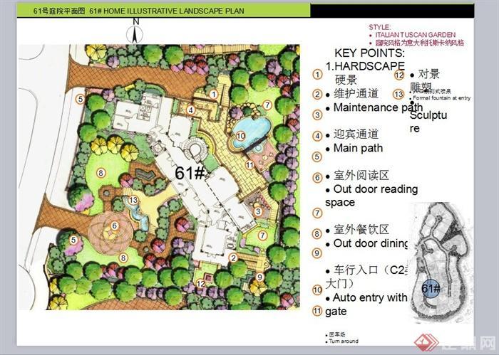 某欧式风格山地别墅区景观规划设计ppt方案[原创]图片