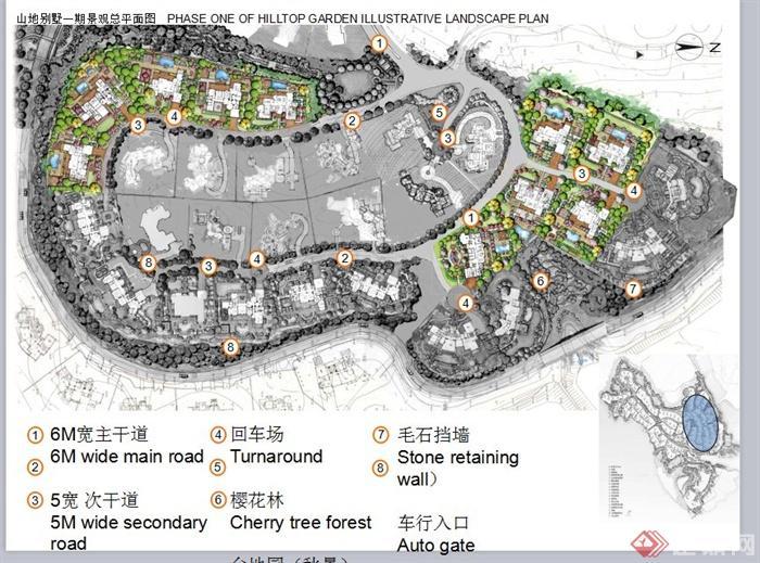 某欧式风格山地别墅景观规划设计ppt方案[原创]图片