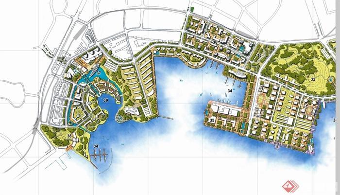 某现代风格湾滨海休闲带概念性景观设计pdf方案文本[原创]