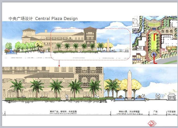 某精致欧式风格商业街景观规划设计ppt方案[原创]图片