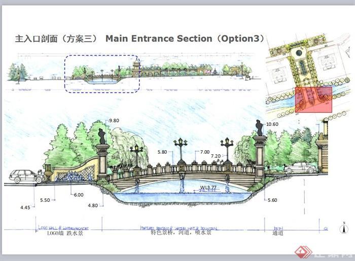 某法式风格别墅区景观规划设计PPT方案图片