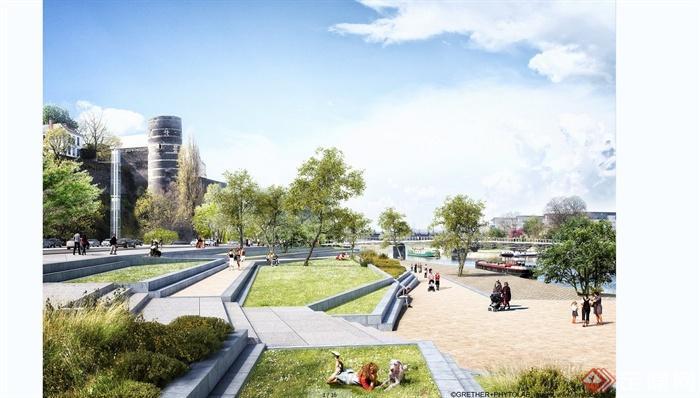 某欧式现代混搭公园景观规划设计JPG效果图,包含缩略图,附件包含JPG图片,图片设计精致美观,高清效果,欢迎下载。