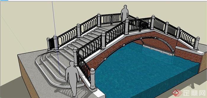 某欧式风格拱桥设计su模型[原创]