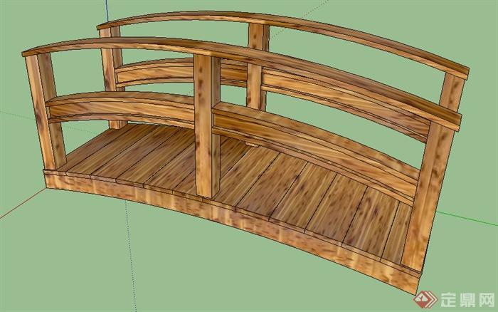 景观小木桥园桥设计su模型[原创]图片