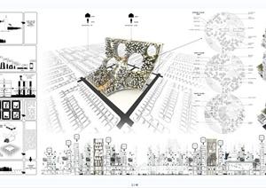 某现代风格独特详细的摩天大楼建筑竞赛最佳排版jpg作品