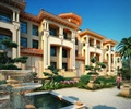 别墅,联排别墅,住宅建筑,喷泉水池,花钵柱,别墅景观