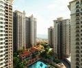 高层住宅,小区景观,泳池,凉亭