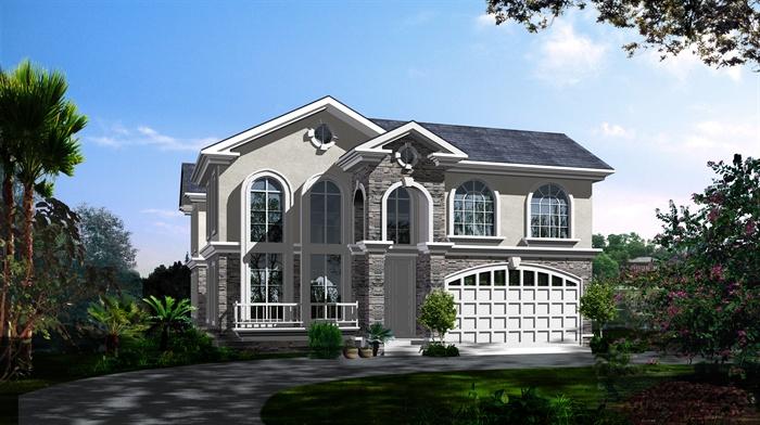 某美式别墅风格建筑设计cad施工图[原创]汇源嘉定区别墅图片
