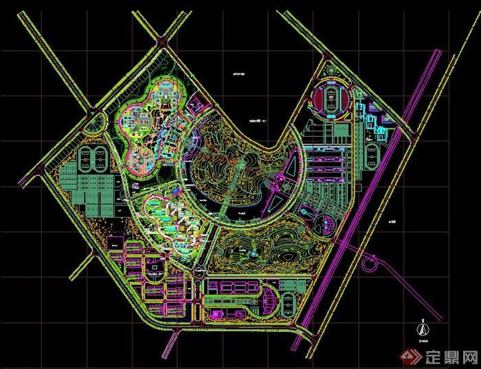 某大学新校区平面图