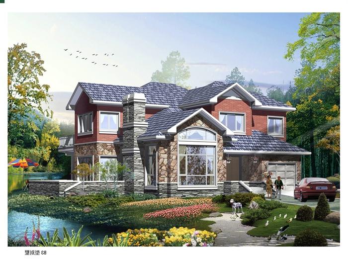 某欧式风格乡村别墅建筑设计cad施工图[原创]