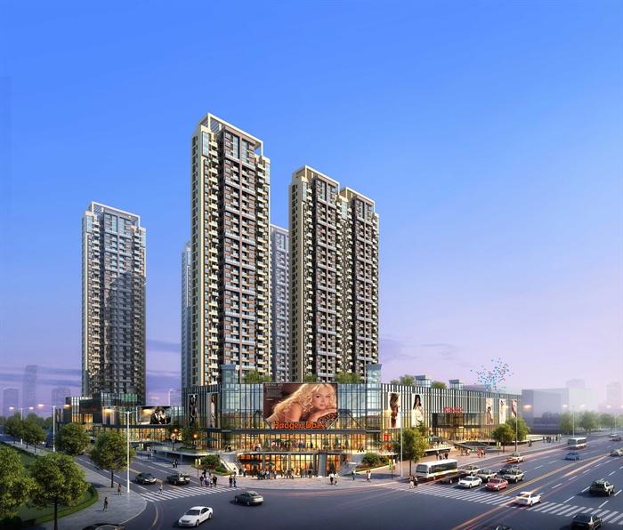 现代住宅小区高层商业住宅建筑楼设计3d模型及效果图