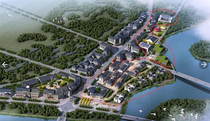 中式风格农产品市场建筑设计3dmax模型