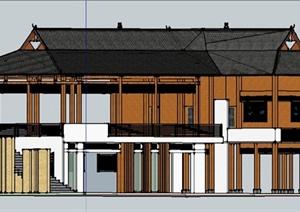 某傣族民居建筑设计SU(草图大师)模型