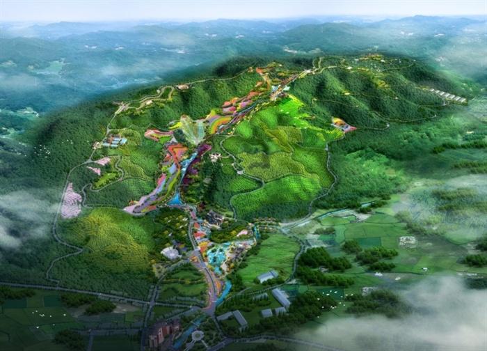 某百花谷林旅生态观光园修建性详细规划设计方案高清文本[原创]图片