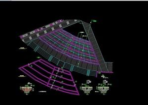 现代风格广场旱水装置设计CAD施工图