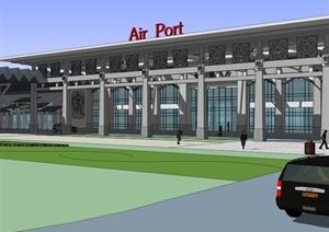 现代机场建筑设计SU(草图大师)模型