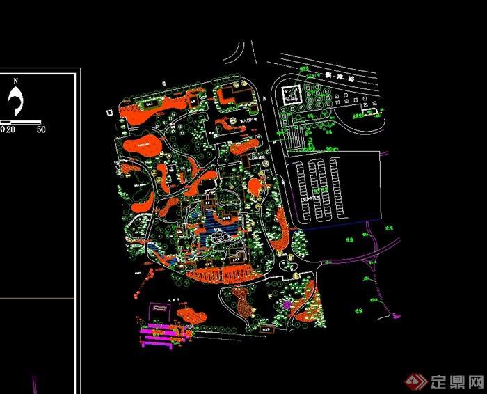 某现代风格公园及儿童公园整体规划设计cad方案图[原创]