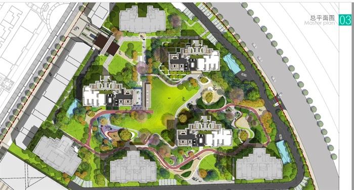 某现代风格居住小区景观规划设计pdf方案含jpg图片[原创]