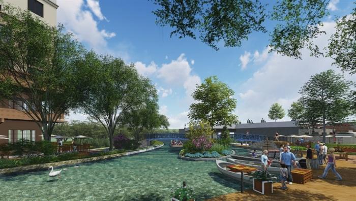 某现代湖滨河商业街水韵区景观设计方案高清文本[原创