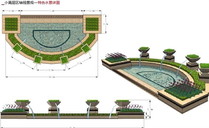 某欧式风格住宅小区景观规划设计pdf方案[原创]