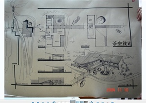 手绘建筑方案效果图设计JPG图片