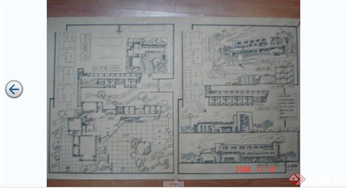 建筑快题设计手绘方案效果图JPG图片(2)