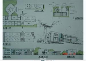 建筑快题设计手绘方案效果图JPG图片