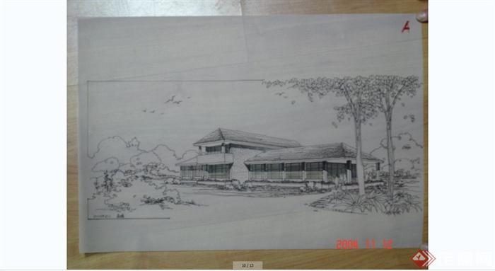 建筑快题设计手绘方案效果图JPG图片(4)