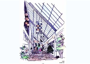 手绘美达麦斯国际建筑效果图JPG图片