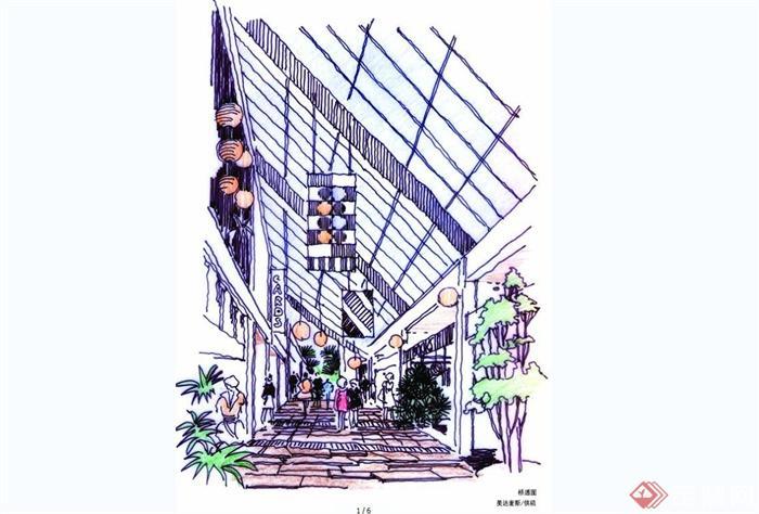 手绘美达麦斯国际建筑效果图JPG图片(1)