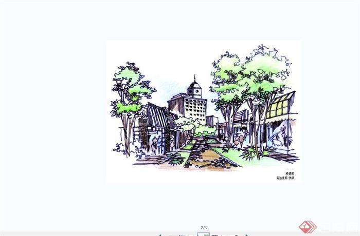 手绘美达麦斯国际建筑效果图JPG图片(2)